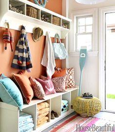 Go Coastal with Blue and Orange Room Decor