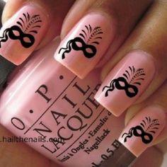 Pink Masquerade Nails