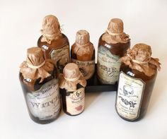 How to make Halloween Apothecary Bottles in no time.