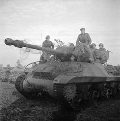 An Achilles tank destroyer of 75th Anti-Tank Regiment, 11th Armoured Division, Royal Artillery, Holland, 12 October 1944.