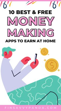 Earn From Home, Work From Home Tips, Make Money From Home, Way To Make Money, How To Make, Earn Extra Cash, Extra Money, Best Money Making Apps, Apps That Pay You