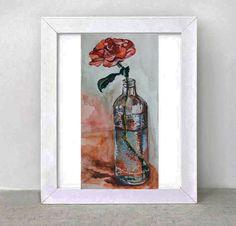 a red rose  by Sonja Zeltner-Mueller on Etsy