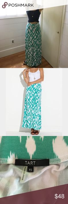 "Tart Collections Maxi skirt This skirt is super soft and comfy. Features a banded waist. Ikat print. Made of 95% modal 5% cotton. Approximately 44"" in length. tart collections Skirts Maxi"