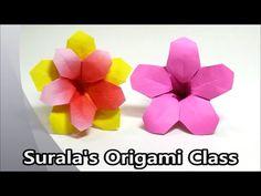 Surala's Origami Class Origami - Azalea (Flower) (Rhododendron mucronulatum…