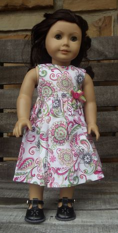 American Girl Doll Clothes  Pretty Paisley by camelotstreasures