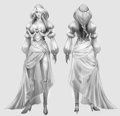 Concept Art / Costume Designs by Eva Widermann, via Behance