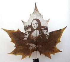 Sólo unas cuantas hojas talladas El tallado de hojas es una forma de arte originaria de China, poco conocida en Occidente. La técnica de t...