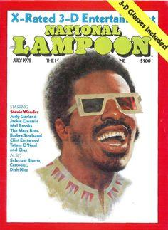 National Lampoon Magazine, American Humor, Newspaper Headlines, National Lampoons, Barbra Streisand, Stevie Wonder, Rap Music, Clint Eastwood, Vintage Magazines