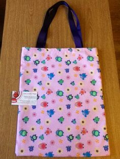 Here is a lined owl bag made this afternoon!
