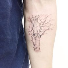 Sectional Tree Tattoo by Banul