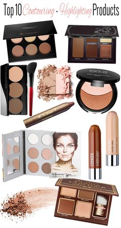 Top 10 Contouring + Highlighting Products with Tutorials.