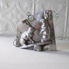 Antique Rabbit Chocolate Mold French Letang Fils by GardenBarn, $189.00