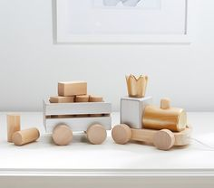Metallic Pull Train | Pottery Barn Kids