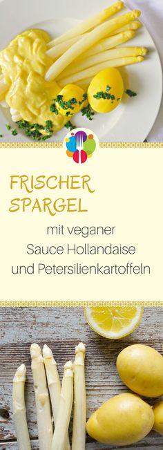 Vegane Sauce Hollandaise mit Spargel. Vegalife Rocks:  www.vegaliferocks.de ✨ I Fleischlos glücklich, fit & Gesund✨ I Follow me for more inspiration  @vegaliferocks