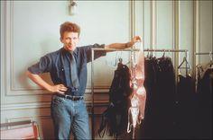 1984, Jean-Paul Gaultier in his atelier, rue Agrippa d'Aubigné, Paris