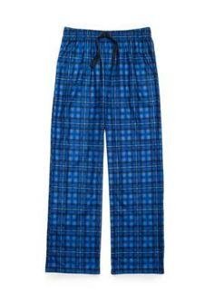 Jellifish Kids Knit Sleep Pants Boys 4-20 - Denim Plaid - Xxlarge