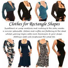 Αποτέλεσμα εικόνας για how to dress body shape rectangle