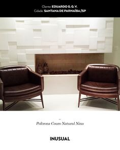 Poltrona Couro Natural Nina - Eduardo - Inusual - Smart Decor