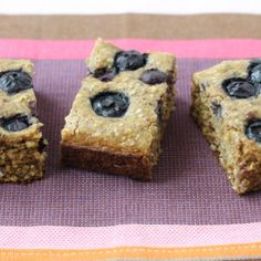 Blueberry Date Snack Cake with Oats from Yummy Toddler Food
