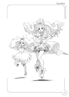 Cure Flora and Puff (Maid Form) :3