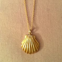 Calypso necklace Gold plated shell necklace. So feminine and cute. Rarely worn but have had for a while. Calypso St. Barth Jewelry Necklaces