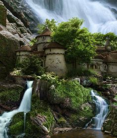 I think Poland may make it to my bucket list............. Waterfall Castle, Poland