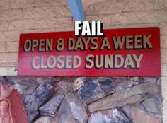 12 Hilarious Closed Signs - Oddee.com (closed signs, hilarious signs)