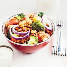 Linssisalaatti #Sydanruokaa