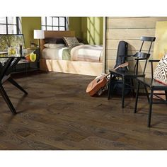 Inspired Elegance by Mohawk Chocolate Oak Laminate Flooring - Sam's Club Mohawk Flooring, Carpet Flooring, Oak Laminate Flooring, Hardwood Floors, American Houses, Floor Design, Sam's Club, Chocolate, Inspired