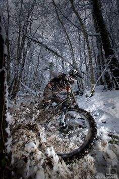 Biking on the snow