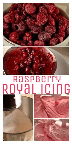 This raspberry royal icing tastes amazing with chocolate sugar cookies! I love that I now have a unique recipe I can use for decorated roll-out cookies.