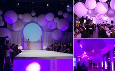 Jätteballonger till catwalk