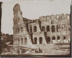 Foto antiga do Coliseu, Roma.