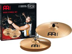 "Set de platillos Meinl MCS Basic Cymbal Set Medium Crash 16"" + Medium Hihat 14"""