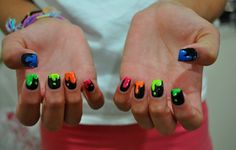 Neon nails. @GloMSN http://glo.msn.com/beauty/mani-madness-1534559.story