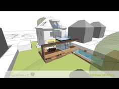 Sleek Glass and Wood House Extension With Matching Swimming Pool