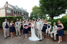 Navy & Tan #BridalParty | #Fedoras | #Classy Bridal Parties, Fedoras, Party Pictures, Bridesmaid Dresses, Wedding Dresses, Classy, Navy, Unique, Fashion
