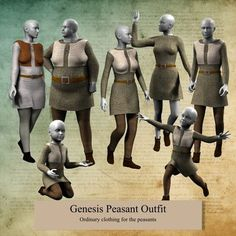 Genesis Peasant Outfit. Yay! Badly needed for my Elshar characters. These frugal traders won't even run a clothing former unless it's on their traders' robes!
