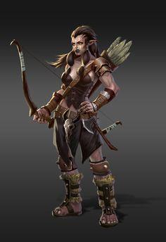 ArtStation - The orc archer, shuqi Dang