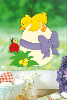 Ostern: Küken-Fensterbild