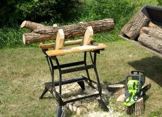 """Workmate Sawbuck by TinkerJim -- Homemade Workmate sawbuck constructed from four 13"""" lengths of 2x4. Cross-bracing and support from both above and below serve to ensure lateral stability. http://www.homemadetools.net/homemade-workmate-sawbuck"""