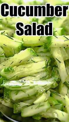 Best Salad Recipes, Cucumber Recipes, Vegetable Recipes, Diet Recipes, Vegetarian Recipes, Cooking Recipes, Healthy Recipes, Recipe For Cucumber Salad, Recipes For Cucumbers