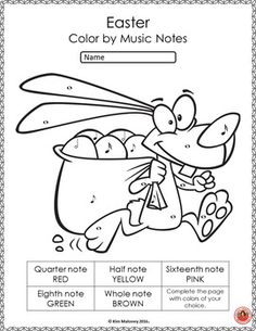 Music Worksheets | EASTER Color by Music Symbols. ♫ CLICK through to see the set or save for later! ♫