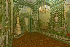 Goëss Apartment - Schönbrunn Palace: paintings by Johann Wenzel Bergl and his studio between 1774 and 1778.