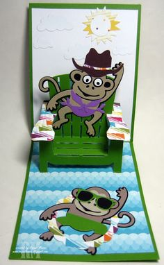 Jinks the Monkey with Adirondack Chair Pop It Ups.