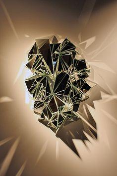 Mathias Kiss; 'Miroir Froissé', 2012 #bocadolobo #luxurydesign #luxuryfurniture home decor ideas, home furniture, luxury furniture, high end furniture, design ideas, interior design ideas. For more inspirations: www.bocadolobo.com