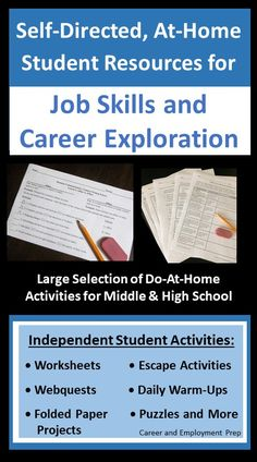Distance Learning Job Skills And Career Activities For Students Student Activities Career Exploration Middle School Career Exploration Activities