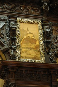 Inlaid Wood Art in Peles Castle Inside Castles, Real Castles, Beautiful Castles, Ale, Castle Interiors, Peles Castle, Palace Interior, Dragon King, Castle Wall