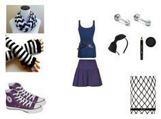 Designer Clothes, Shoes & Bags for Women Emo Style, Blue Style, Blue Fashion, Emo Fashion, Anna Blue, Marc Jacobs, Kate Spade, Converse, Shoe Bag
