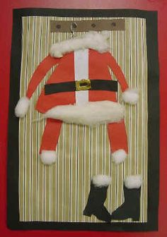 Santa outfit craft for kids